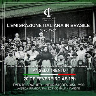 Conferência em comemoração ao Dia do Imigrante Italiano