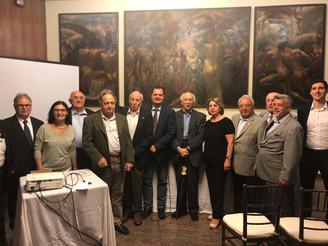 Rubens Ricupero em evento sobre política européia no Circolo Italiano