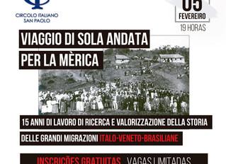 Palestra gratuita falará sobre imigração vêneta no Brasil