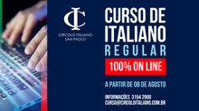 CURSO REGULAR DE ITALIANO 100% ON LINE!
