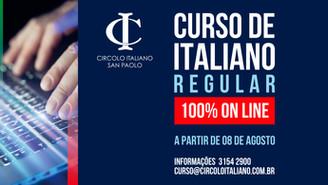 CURSO REGULAR DE ITALIANO 100% ON LINE!