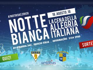 Circolo Italiano e Colégio Dante Alighieri promovem juntos uma grande festa!