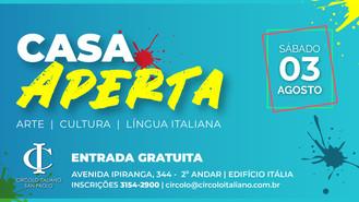 03 de AGOSTO: CARTA APERTA 2019 Arte, cultura e língua italiana