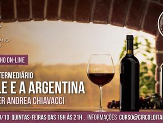 Curso de Vinhos: Intermediário - O Chile e a Argentina - 2ª Turma