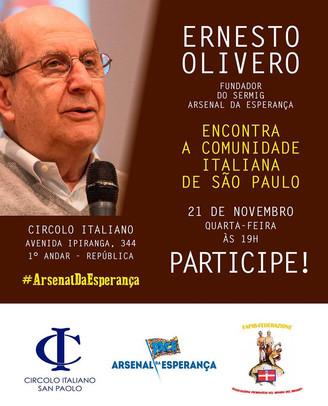 Ernesto Olivero encontra a Comunidade Italiana de São Paulo