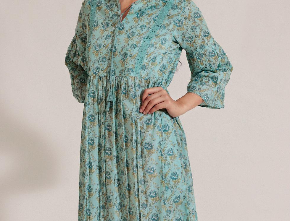 Blue Peonies Dress