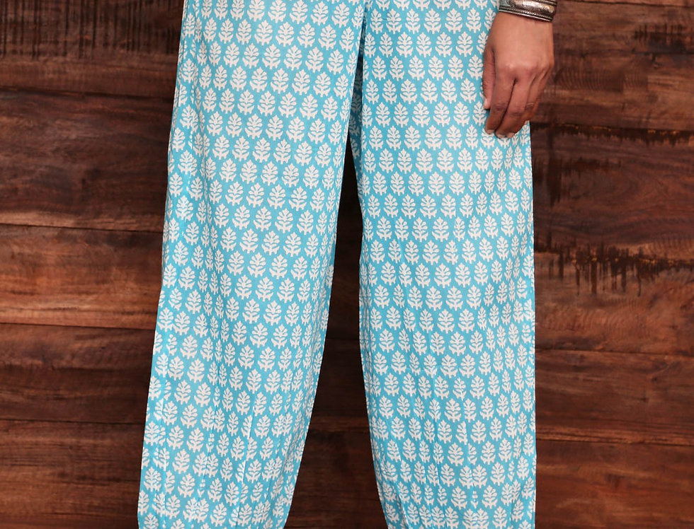 Blue Booti Trousers