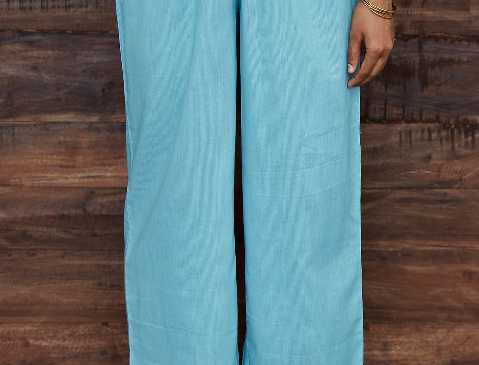Blue Trouser with Lace