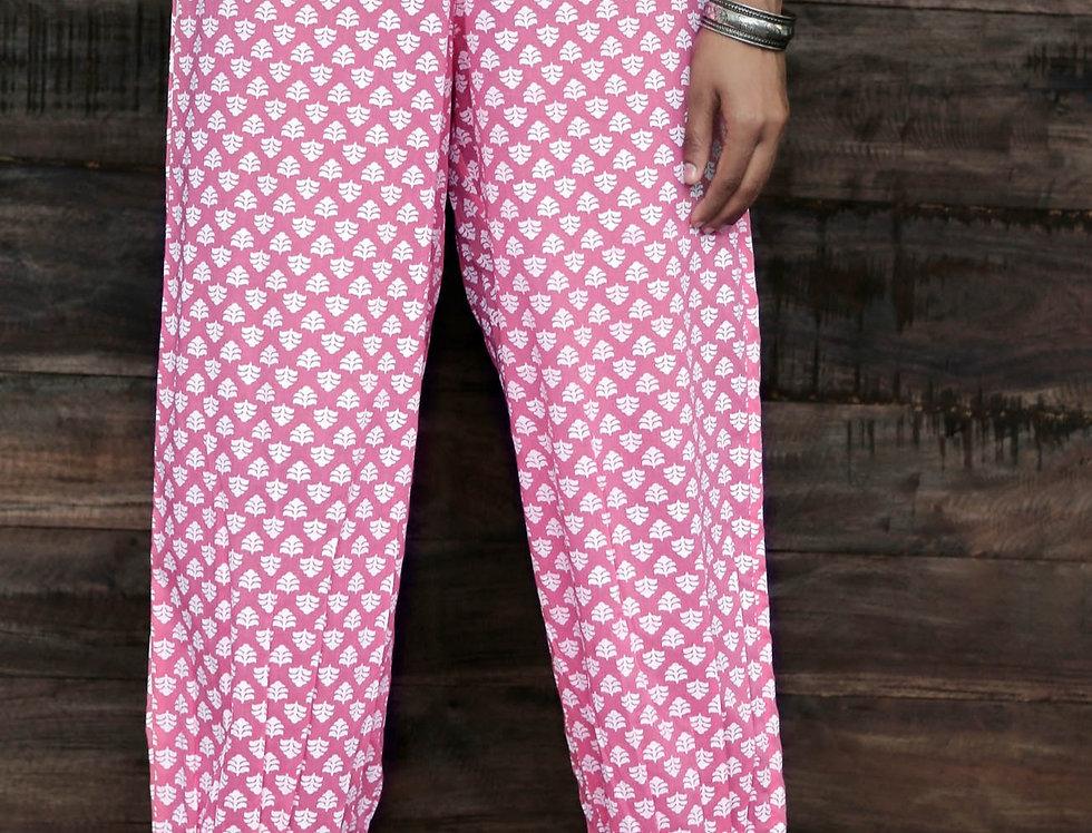 Pink Chunakhadi Pants