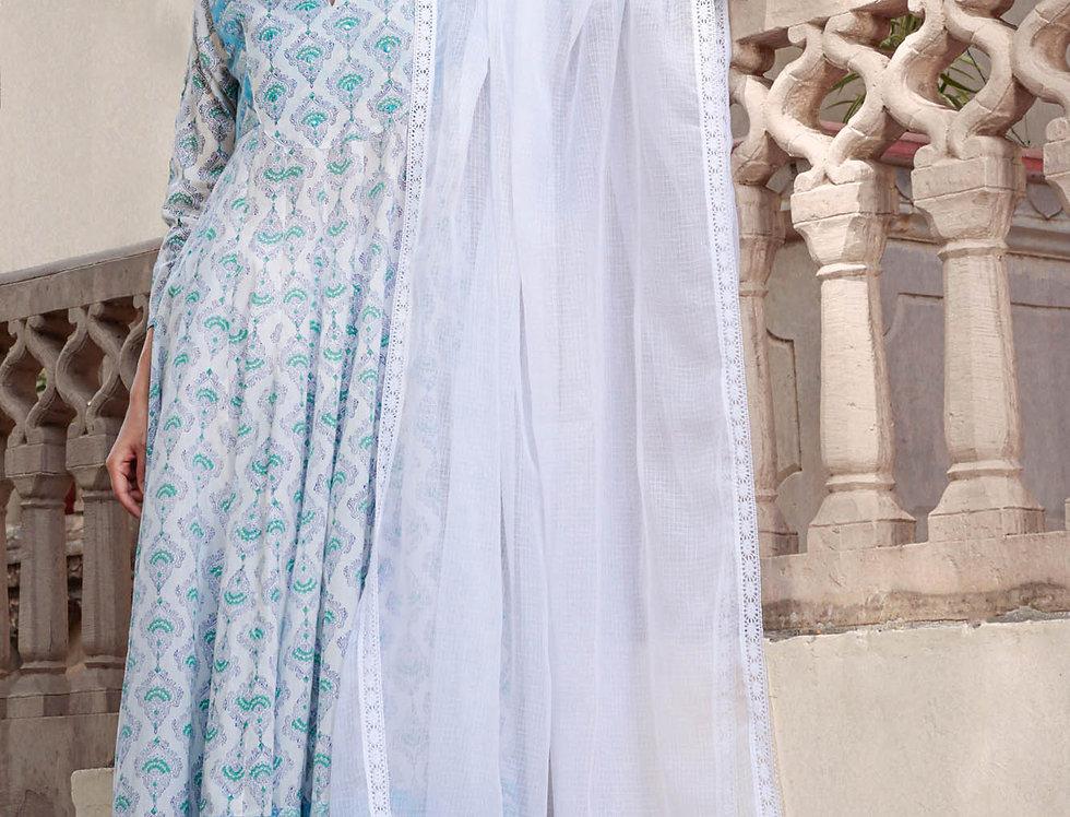 Blue Paan Anarkali
