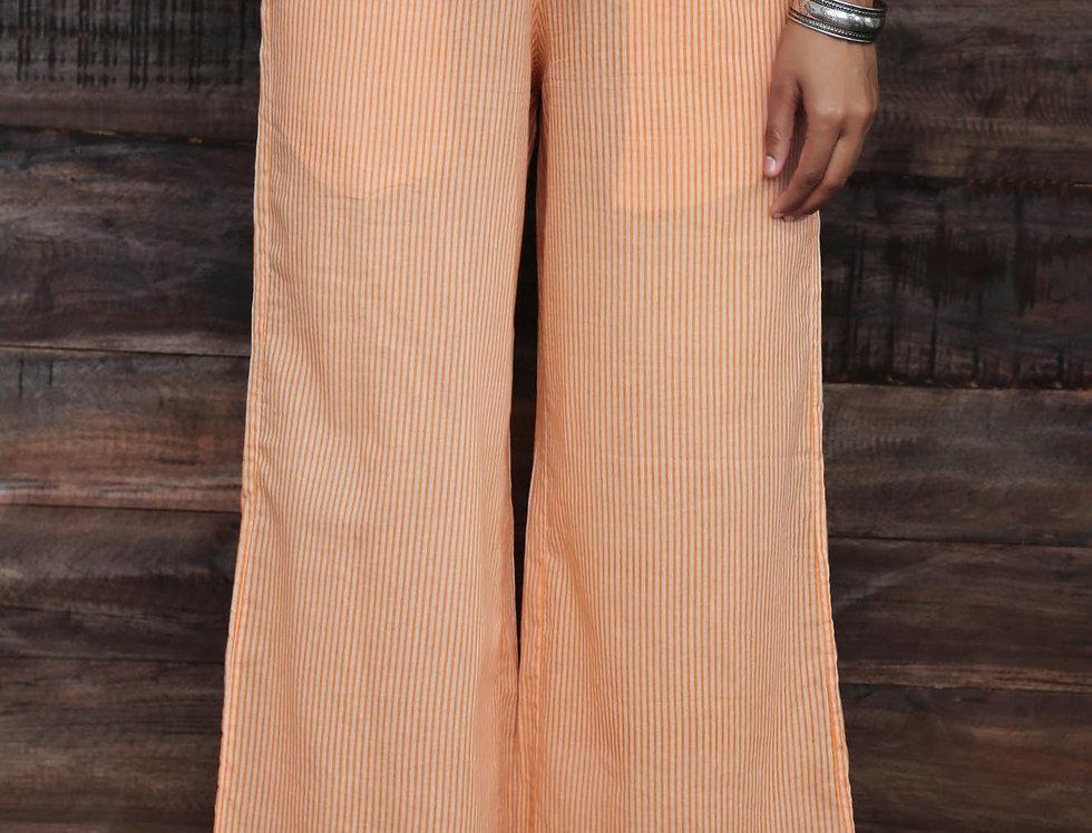 Orange Stripes Trousers