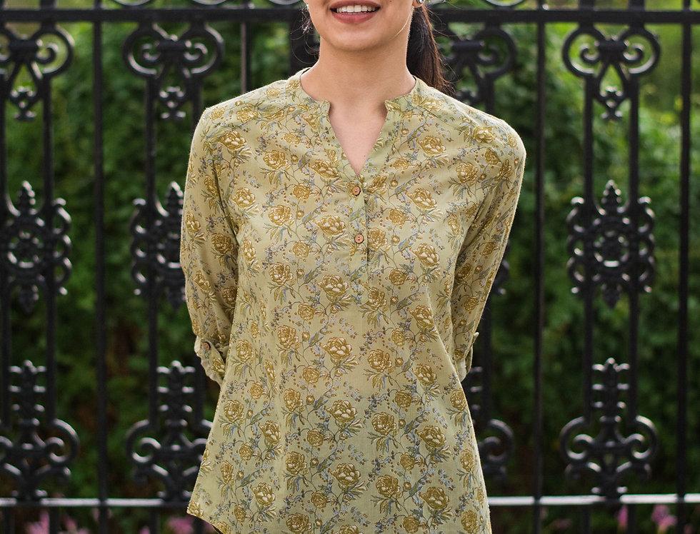 Olive Peonies Shirt