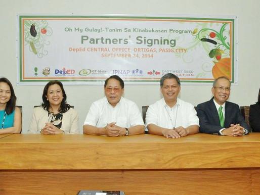 Oh My Gulay! – Tanim sa Kinabukasan Program MOA Signing