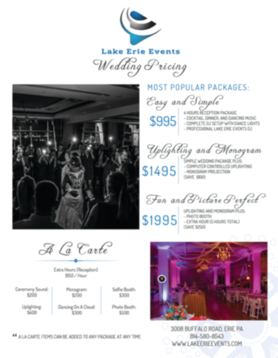 2019 Wedding Prices