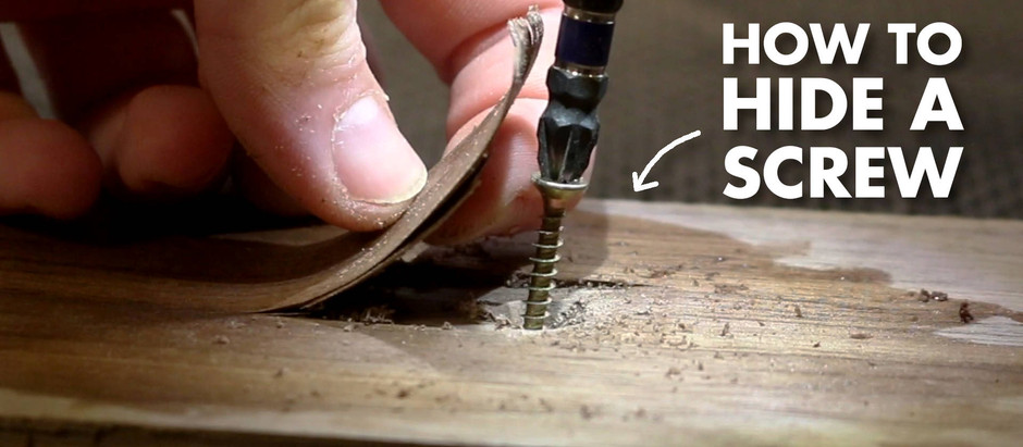 THE BEST Way To Hide A Screw In Wood!
