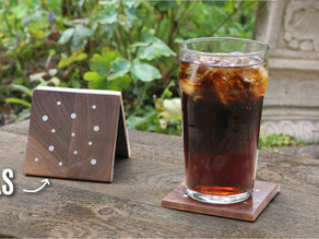 Drinks Coasters with Nails Inlay
