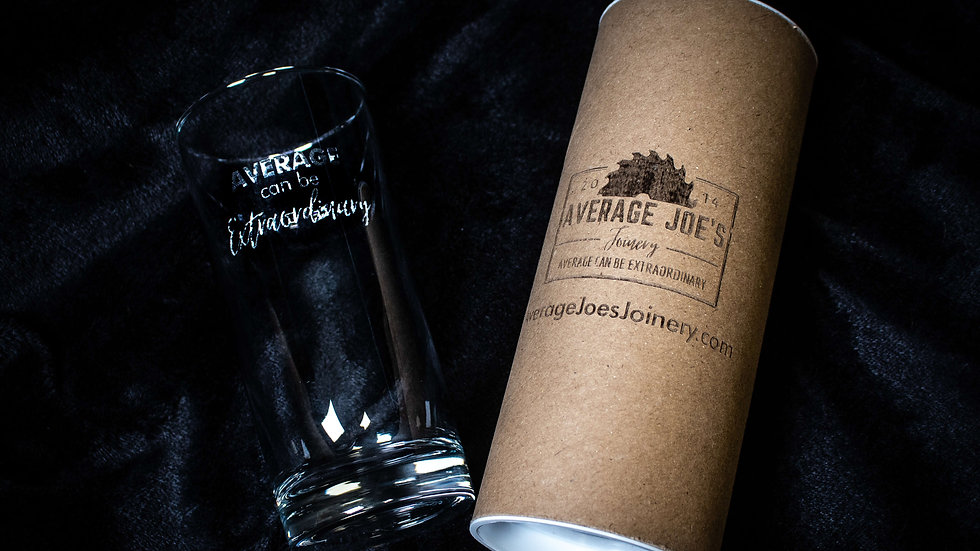 Engraved Glass - Average Can Be Extraordinary