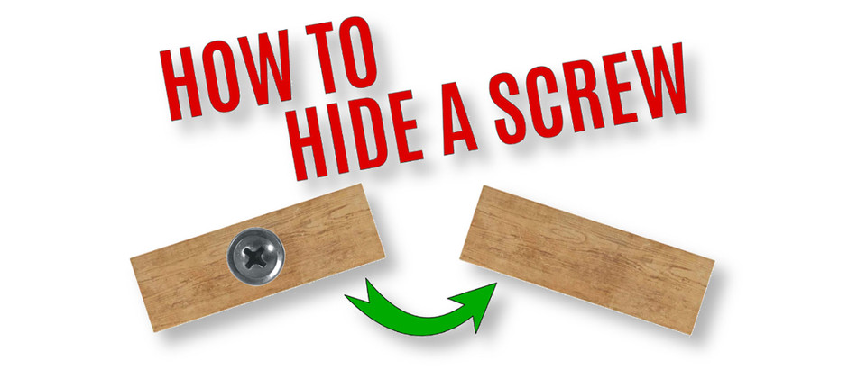How To Hide A Screw - The Best Way!