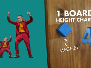 Make A Height Chart Using Only 1 Board!