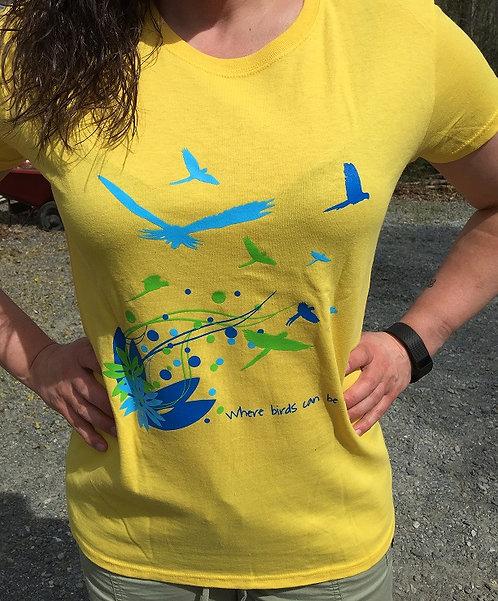 Yellow Ladies Tshirt shipping incl