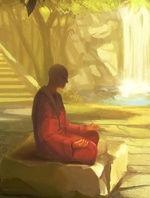 Moine tibétain méditation