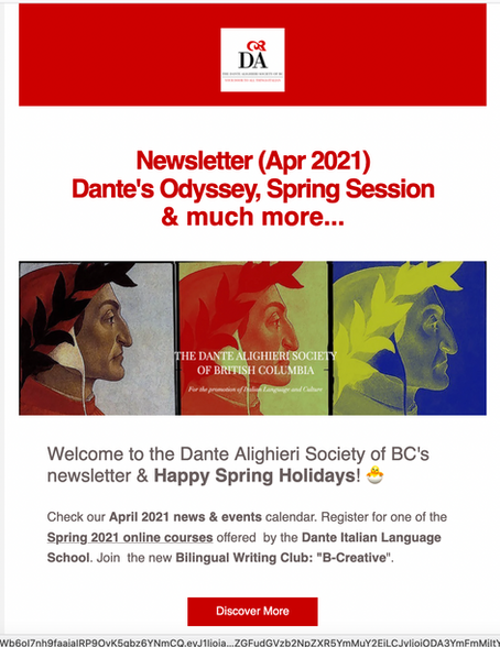 Our April Newsletter is out!