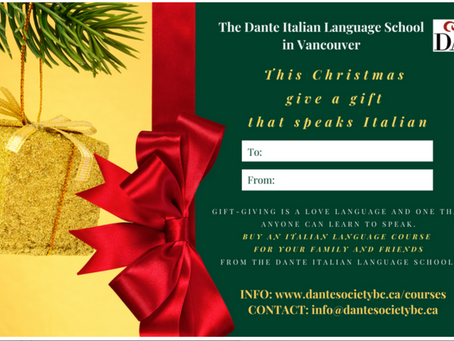 Christmas Gift Cards & Italian Lessons for the New Year!
