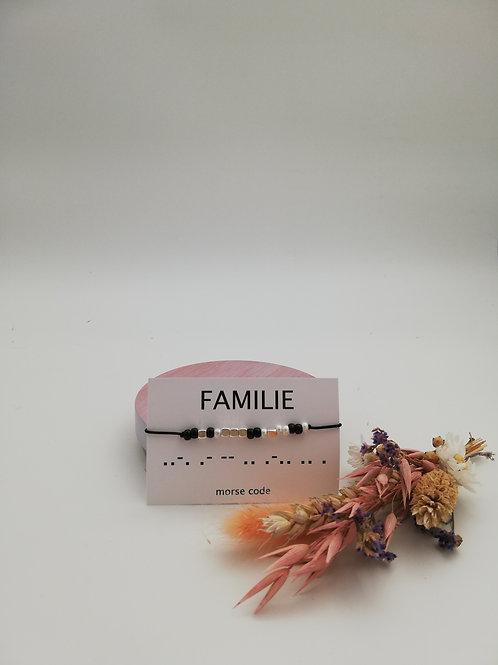Armbandje morse code FAMILIE