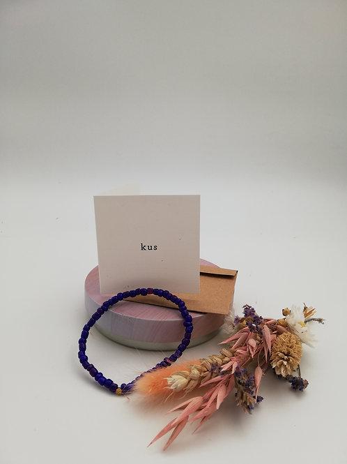 Armband met kaart 'Kus'
