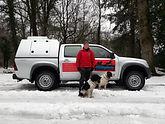 Rachel with new truck in the snow.jpg
