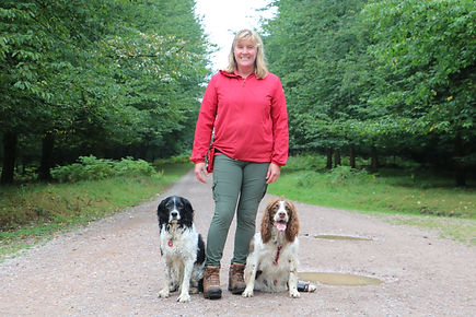 Me and my spaniels Aug2020