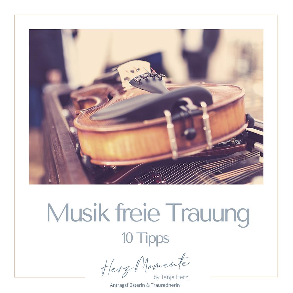 Musikinstrument freie Trauung Traurednerin Tanja Herz