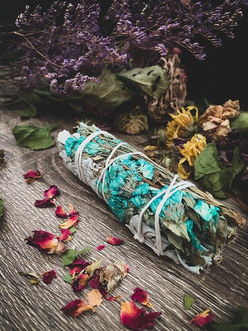 White Sage + Turquoise Sinuata