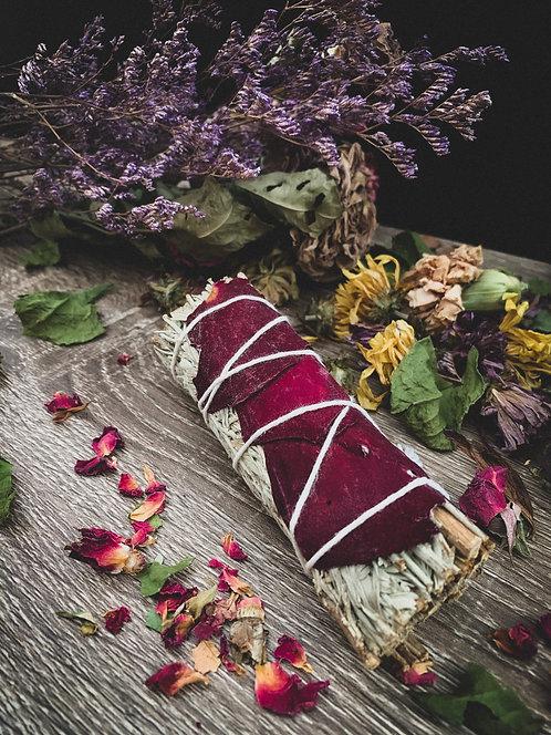 Blue Sage + Rose Petals