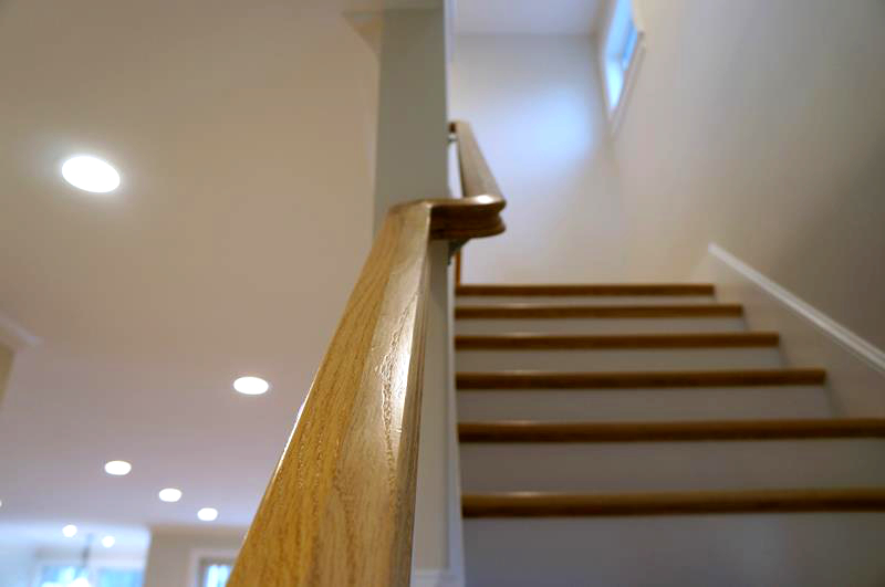 beautiful wooden stairs