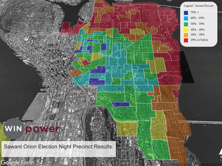 Sawant Election Night 2019 By Precinct