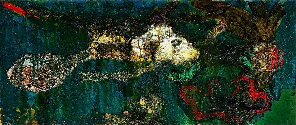 Toshimitsu Imaï, Composition, 1960, Huil