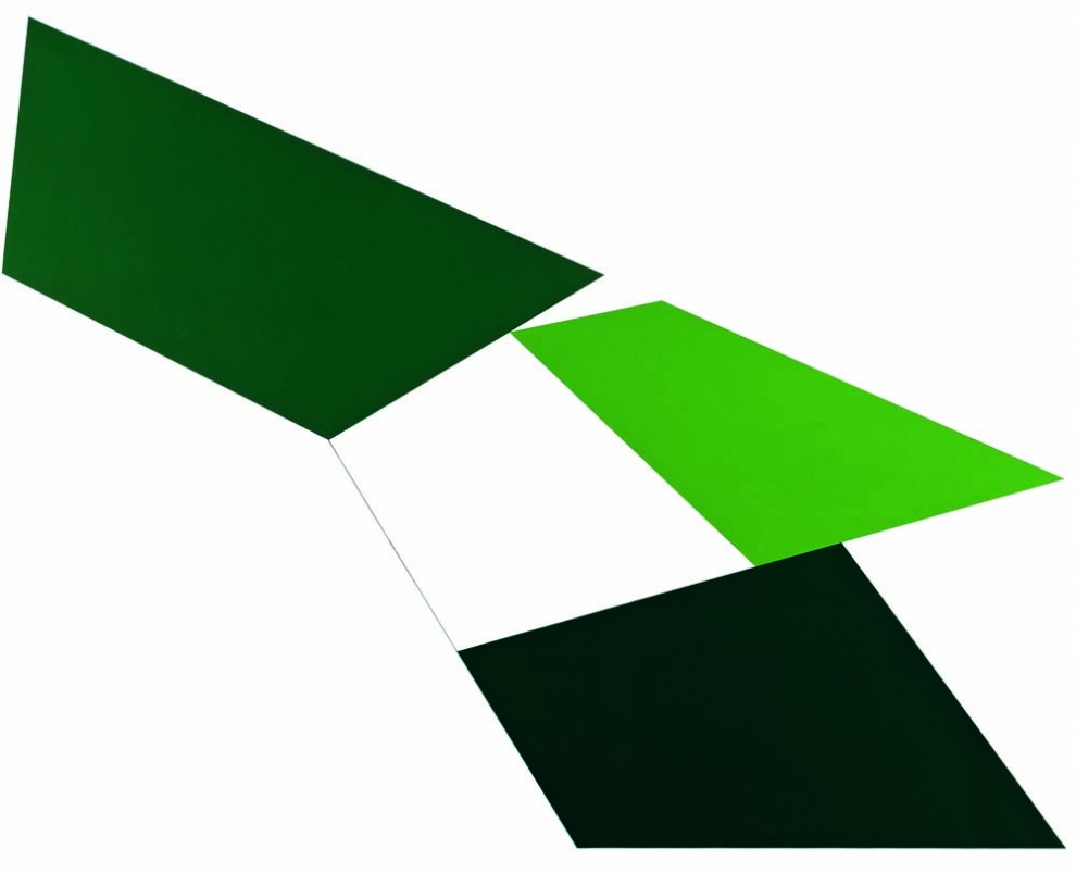 Claisse (1935) - Risselty vert, 1966, Huile sur toile, 130 x 162 cm