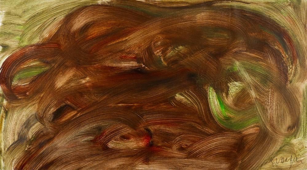 Messagier (1920-1999) - Nuagisme, 1962 Huile sur toile, 70 cm x 120 cm