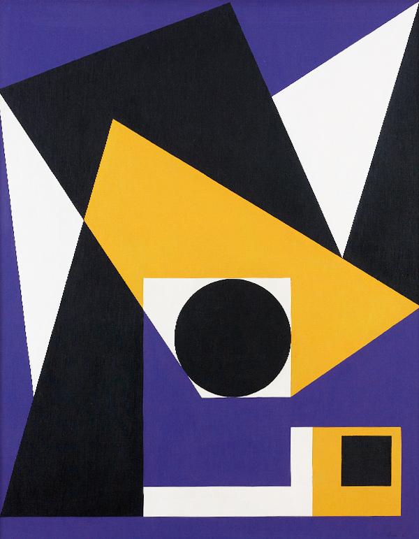 Claisse (1935) - Contralto, 1963 Huile sur toile, 92 x 73 cm