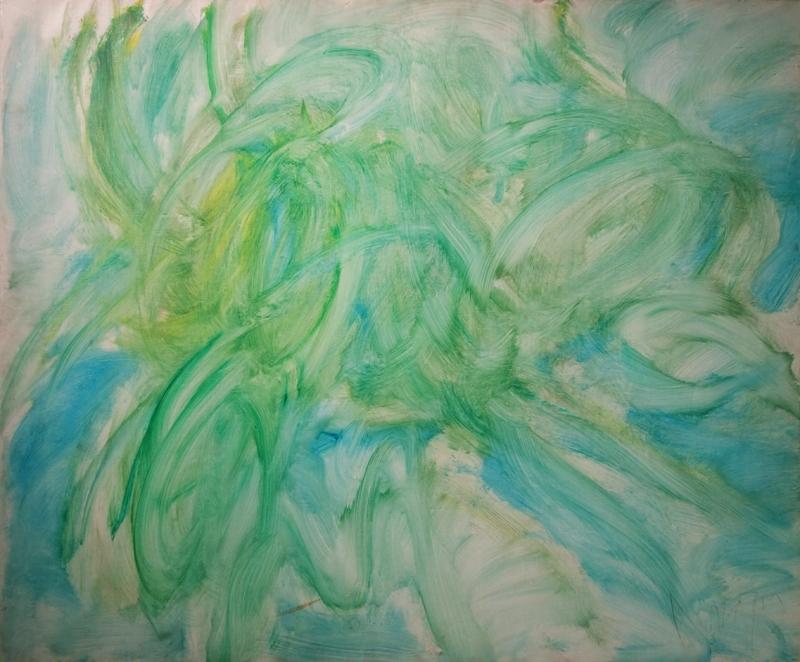 Messagier (1920-1999) - Composition, 1961 Huile sur toile, 89 x 107 cm