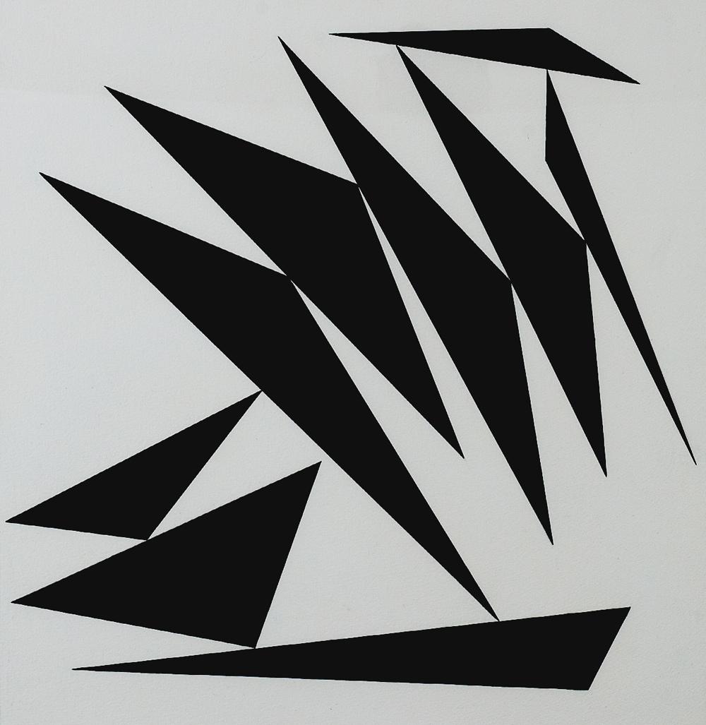 Claisse (1935) - Agena, 1965 Gouache sur papier, 54 cm x 52.5 cm