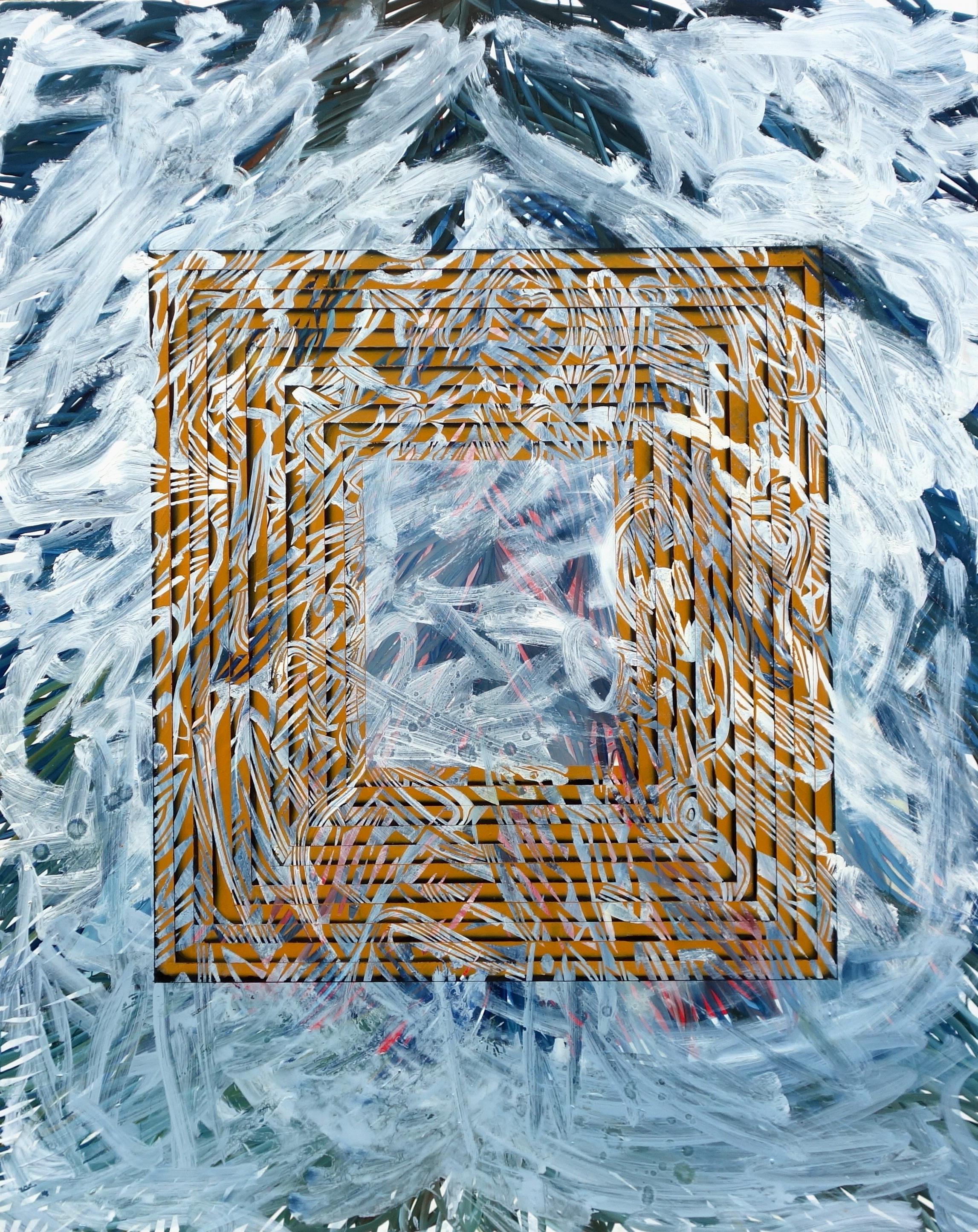 Laura Garcia-Karras, Sans Titre, 2017, Huile sur toile, 130 x 97 cm, Courtesy de l'artiste et Galeri