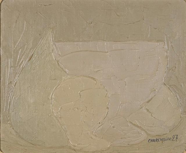 Charchoune (1888-1975) Composition, 1927 Huile sur toile collée sur panneau, 19,5x24 cm