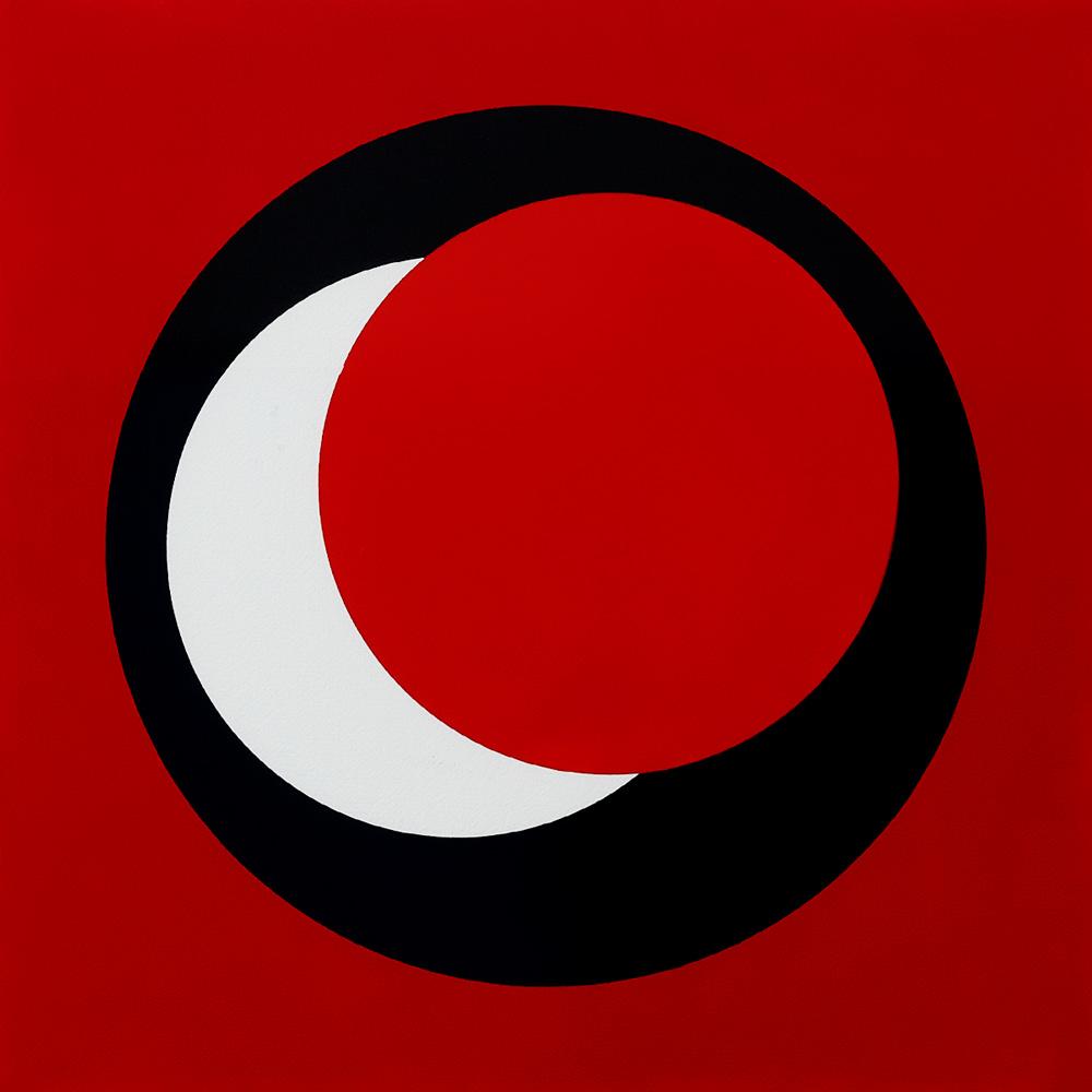 Claisse (1935) - Cercles, 1967, Gouache sur papier, 50 cm x 50 cm