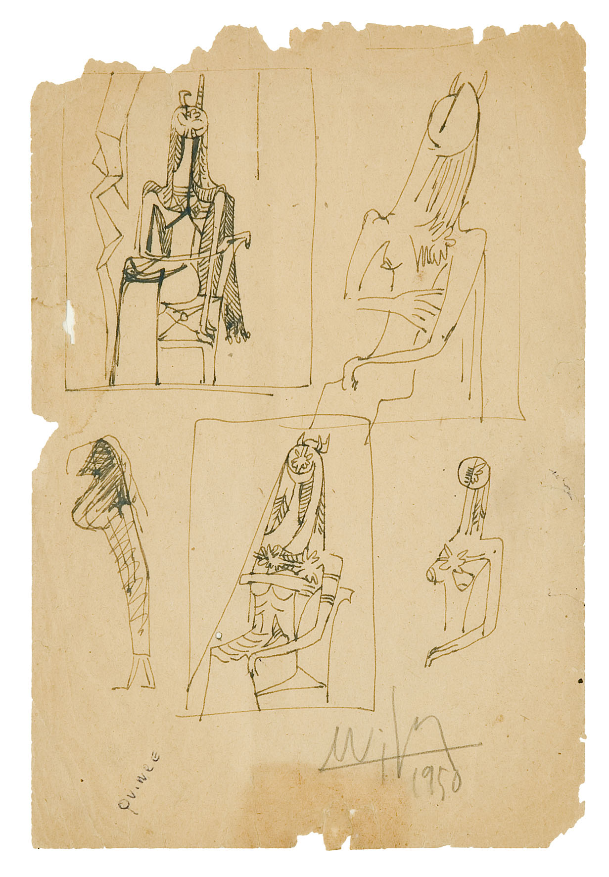 4)1950, ST, encre de chine, 1950