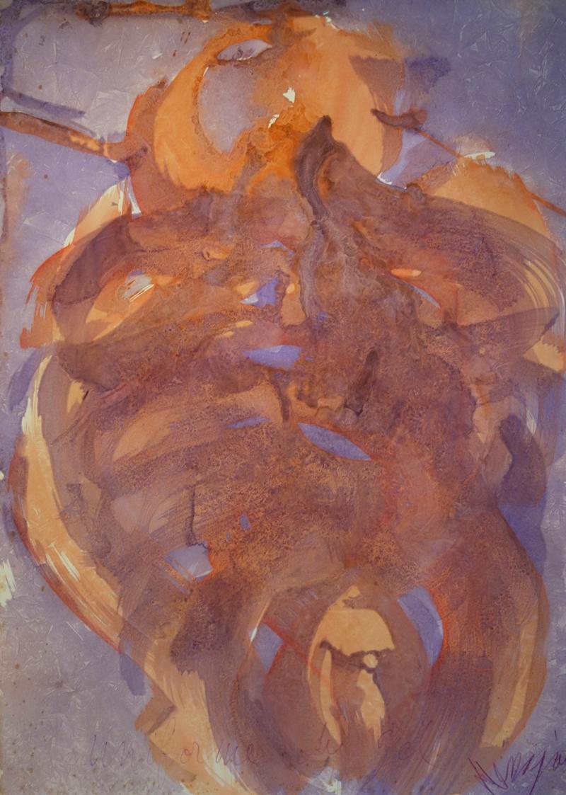 Messagier (1920-1999) - Uniforme du gel, 1974 Gel sur papier, 104 x 75 cm