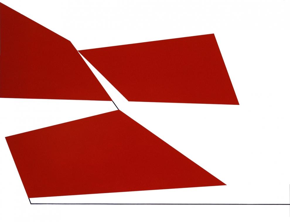 Claisse (1935) - Knack rouge, 1965, Huile sur toile, 81 x 116 cm