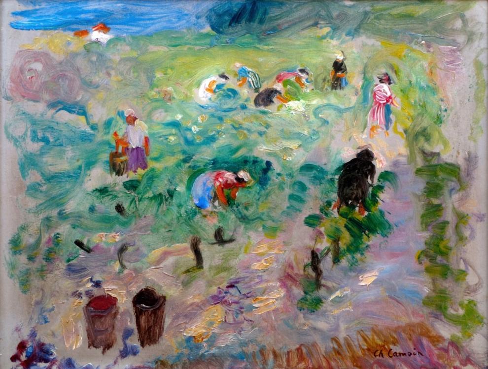 Camoin (1879-1965) - Les Vendanges_huile sur carton_26x 34.5
