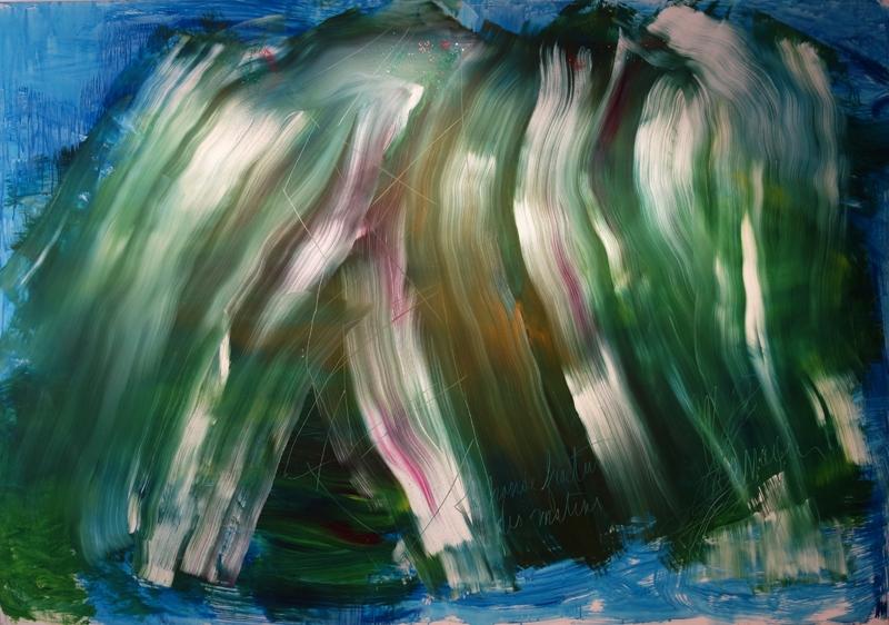 Messagier (1920-1999) - La grande fracture des matins, 1992, Huile sur toile, 200 x 285 cm